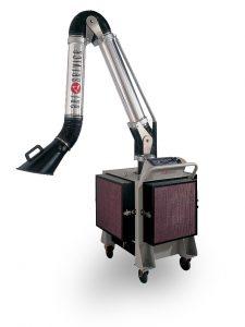 Caisson mobile pour aspiration et filtration de fumées de soudure