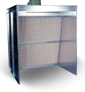 Spray booth with dry filtration